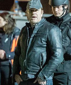 Tv Series Curfew The General Guniune leather jacket