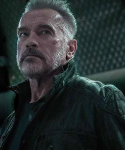 Arnold Schwarzenegger The Terminator Black Leather Jacket