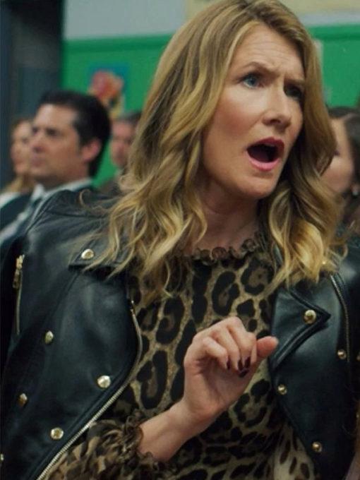 Tv Series Big Little Lies Renata Klein Black leather Jacket