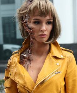 Better Than Us Paulina Andreeva Yellow leather Jacket