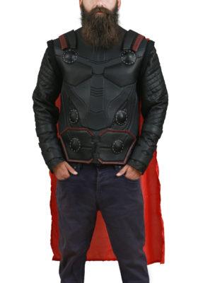 Avengers Infinity War Thor Black Leather Vest