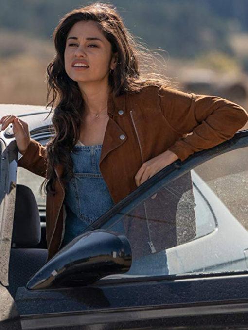 Yvette Monreal Rambo The Last Blood Brown Jacket