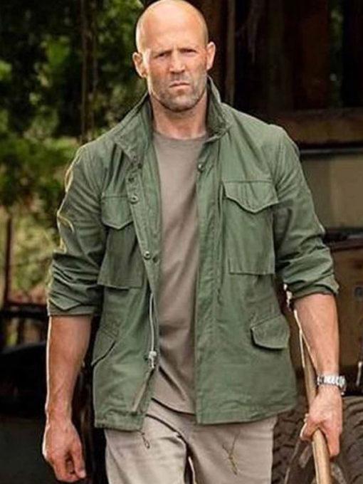 Hobbs and Shaw Jason Statham Military Green Jacket