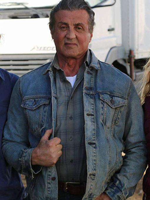 Rambo The Last Blood Sylvester Stallone Denim Jacket