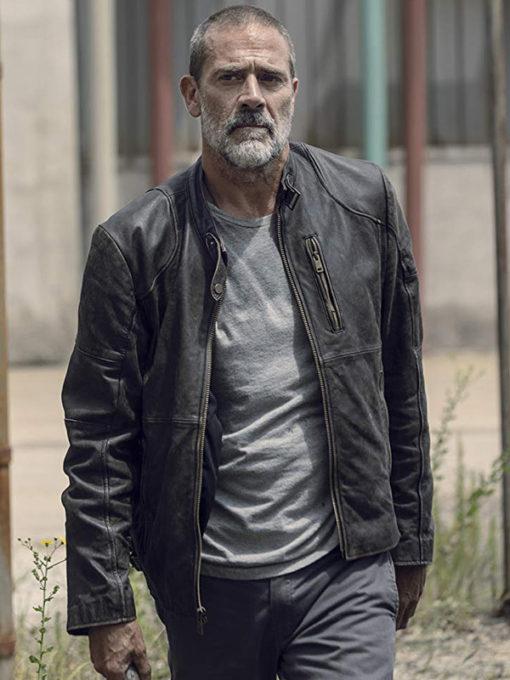 TV Series The Walking Dead Negan Black Distressed Leather Jacket