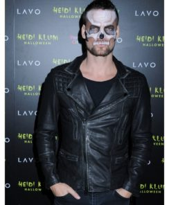 American singer Adam Lambert Halloween Party Leather Jacket