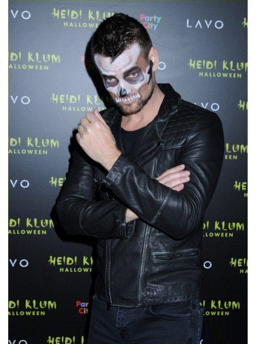Singer Adam Lambert Halloween Party Leather Jacket
