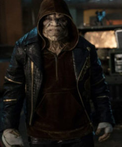 Killer Croc Suicide Squad Black Leather Jacket