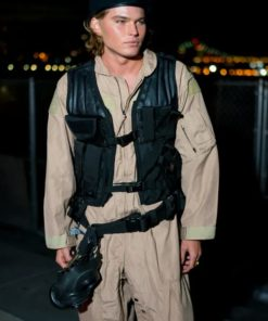 Stylish model Jordan Barrett Halloween Party New York City Vest