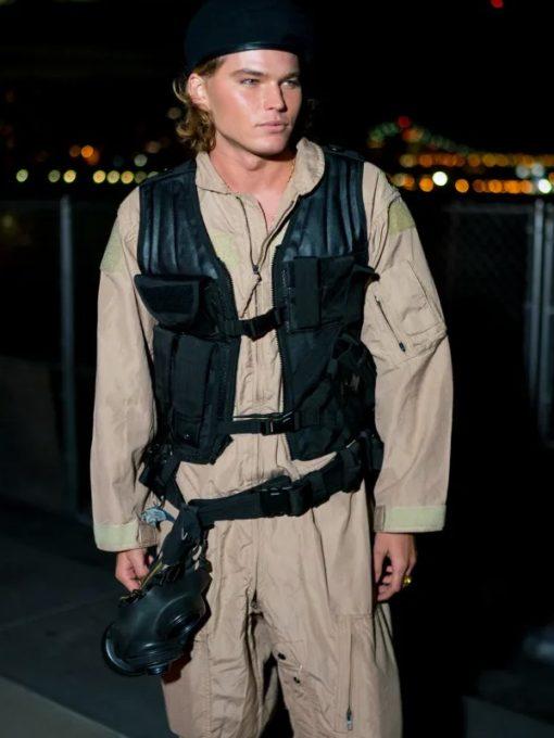 Stylish model Jordan Barrett Halloween Party New York City Vest