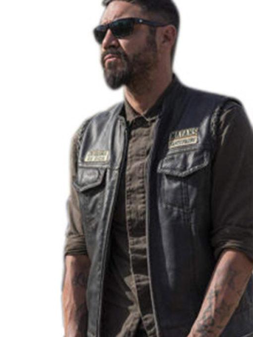 Clayton Cardenas Black Leather Vest