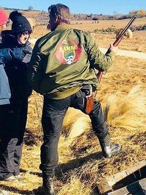 Rambo 5 Last Blood Skull Green Bomber Jacket