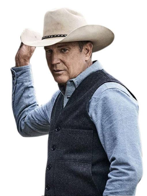 John Dutton Yellowstone Kevin Costner Grey Vest