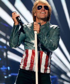 Jon Bon Jovi USA Flag Jacket