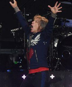 Jon Bon Jovi Anfield Football Stadium Liverpool Blue Jacket