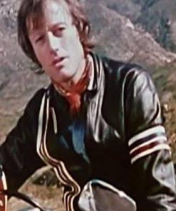 Movie Easy Rider Peter Fonda USA Flag Leather Jacket