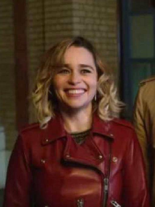 Romance, Comedy Film Last Christmas Kate Emilia Clarke Jacket