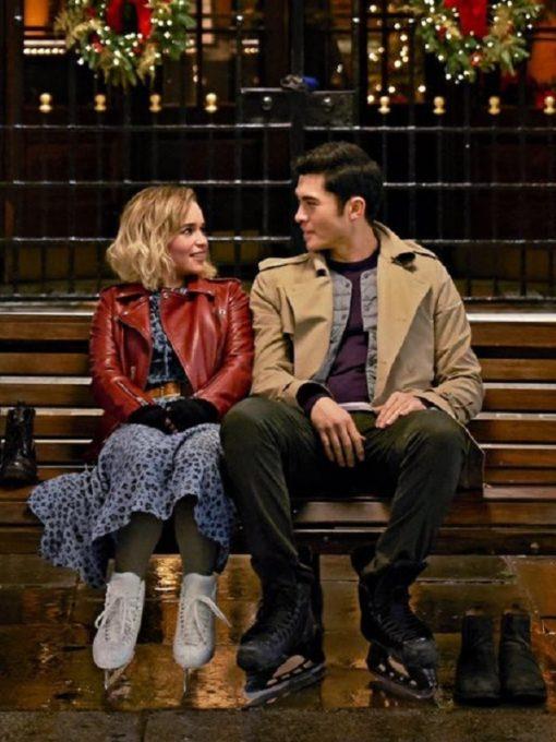 Romance, Comedy Film Last Christmas Kate Emilia Clarke Red Jacket