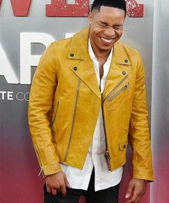 Power Dre Rotimi Yellow Leather Jacket