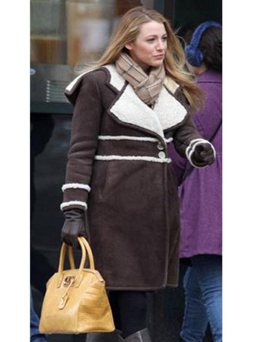 Amanda Holden Shearling Brown Coat
