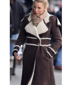 Amanda Holden Winter Shearling Trench Coat