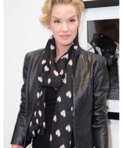 Ashley Scott Black Leather Jacket