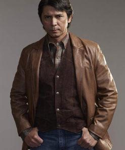 Saúl Guerrero Blindspot Leather Coat