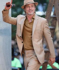 Brad Pitt Brown Coat