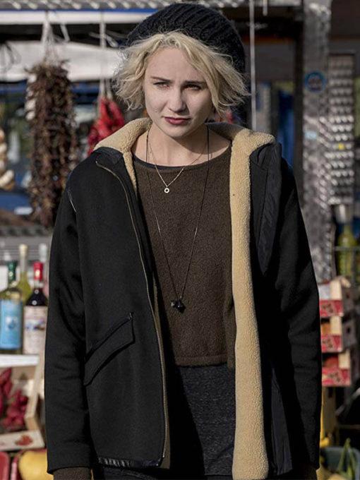 Tuppence Middleton Sense8 shearling Leather Jacket