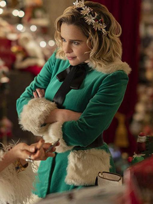 Christmas special Outerwear buy Emilia Clarke Green Jacket