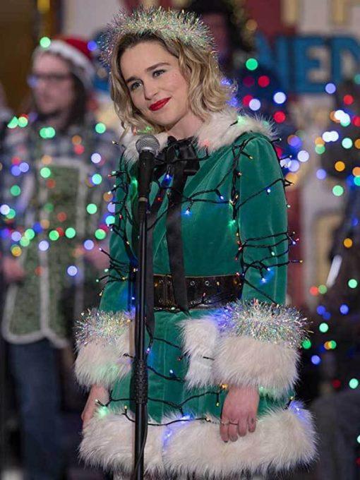 Emilia Clarke Christmas Special Green Jacket