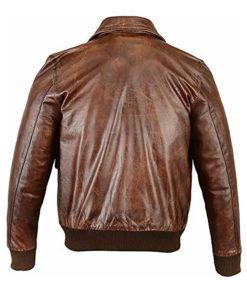 Mens A2 Flight Bomber Leather Jacket