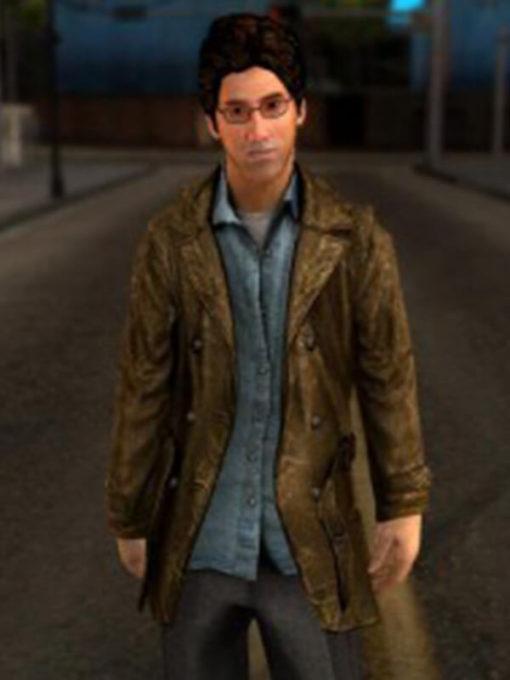 Harry Mason Silent Hill Leather Jacket