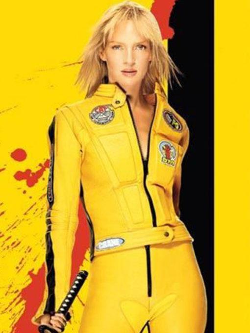 Uma Thurman Kill Bill 2 Beatrix Kiddo Motorcycle Jacket