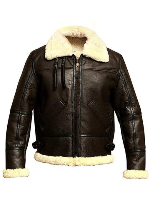 Mens B3 Bomber Aviator Winter Shearling Jacket