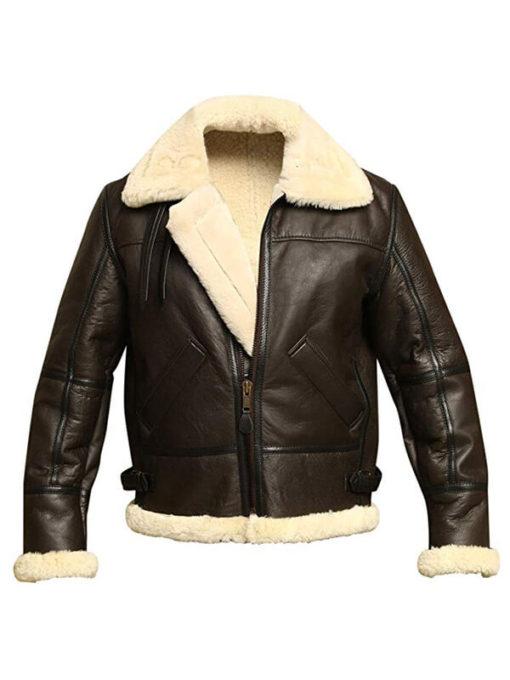 B3 Bomber Aviator Sheepskin Leather Jacket