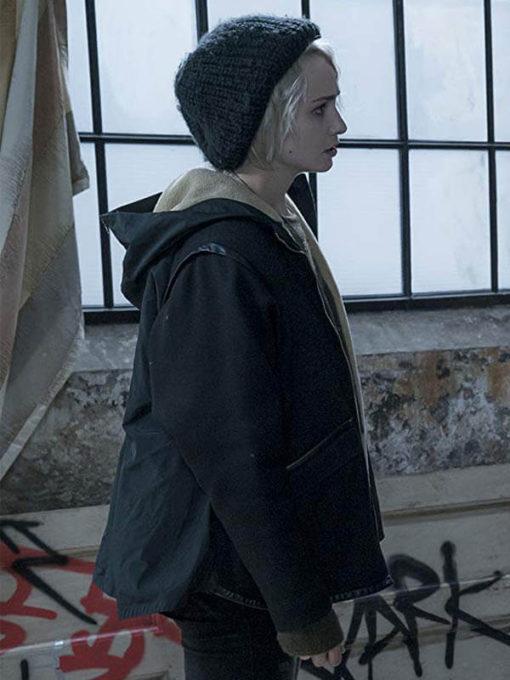 Drama Sense8 Tuppence Middleton shearling jacket