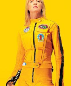 Kill Bill The Bride Uma Thurman Biker Leather Jacket