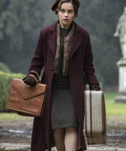 Verena Voice from the Stone Emilia Clarke Wool Coat
