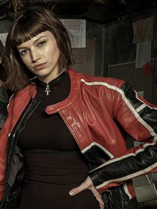Tokio Money Heist Úrsula Corberó Leather Jacket