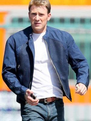 Blue Steve Rogers Captain America Cotton Jacket