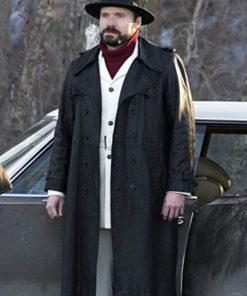 Gale Kitchen Fargo Black Leather Coat