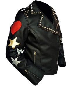 Brando Biker Red Heart Stars Jacket