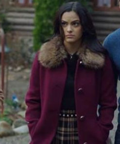 Riverdale Veronica Lodge Fur Collar Shearling Coat