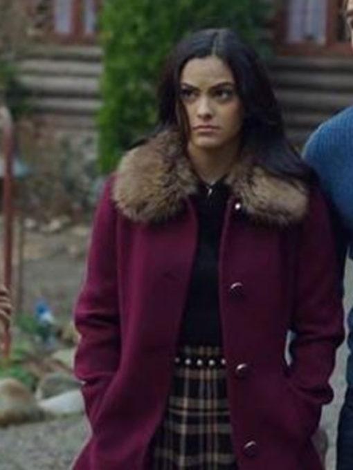 Riverdale Veronica Lodge Fur Collar Shearling Coat