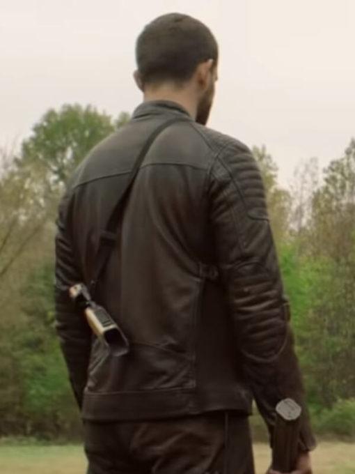 TV Series The Walking Dead Nico Tortorella Brown Leather Jacket