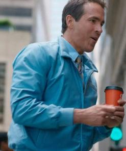 Ryan Reynolds Free Guy Leather Jacket