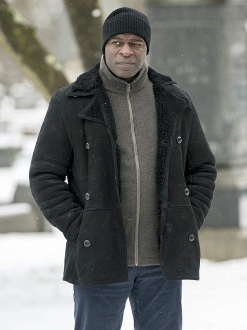 Hisham Tawfiq Shearling Suede Leather Jacket