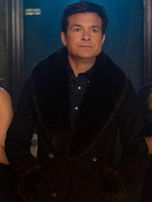 Josh Parker Office Christmas Party Jason Bateman Shearling Coat