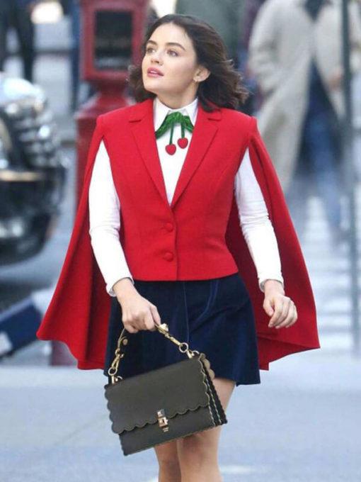 Lucy Hale Red Vest in Tv Series Katy Keene